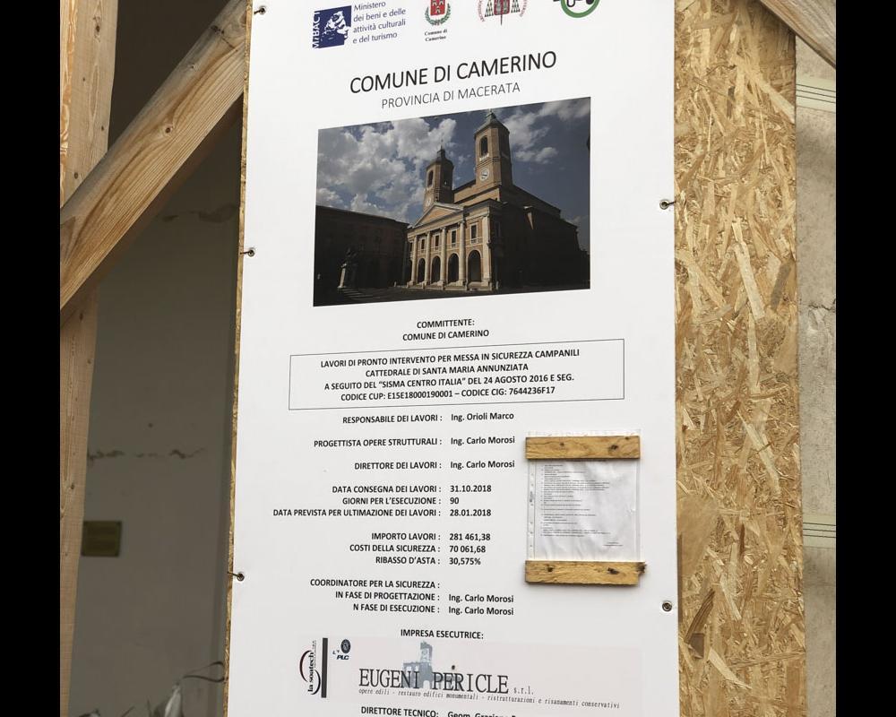 Messa in sicurezza dei campanili del Duomo